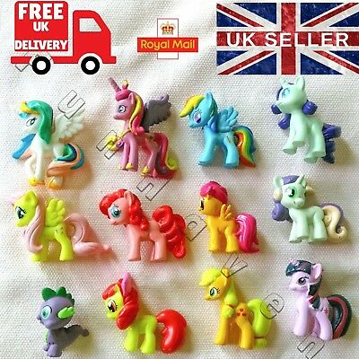 My Little Pony Cake Toppers Decorations mini Figures Set Birthday Party Supplies