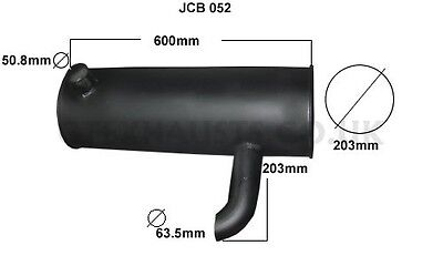 Jcb Js130 13 Ton Digger  1996 On  Exhaust Silencer (Brand New)