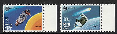 Cyprus: Europa, 1991 Space, Spacecraft Ulysses & Giotto - SG. 779/80 MNH (S24)