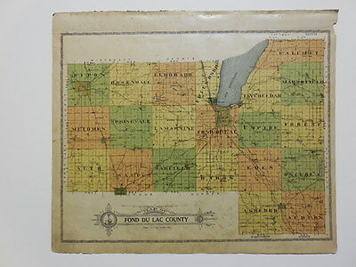 Antique Fond du Lac County Plat Maps from Atlas dated 1910