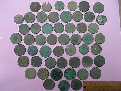 assorted halfpenny approx 50 uncleaned (214)