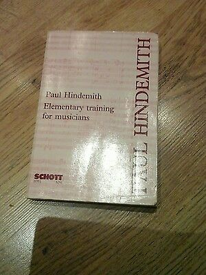 Paul Hindemith Elementary Training For Musicians Schott 2Nd Edition Revised 1949