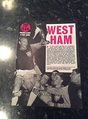 WEST HAM CUP WINNERS CUP FINAL ETC FROM THE LATE 1960s TOP TEAM PULL OUT 8 PAGER