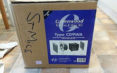 Greenwood Airvac Cd9Wa Eco Fan And Wall Kit New