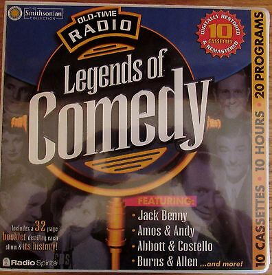 Old Time Radio Legends of Comedy 10 cassettes 20 programs 10 hours