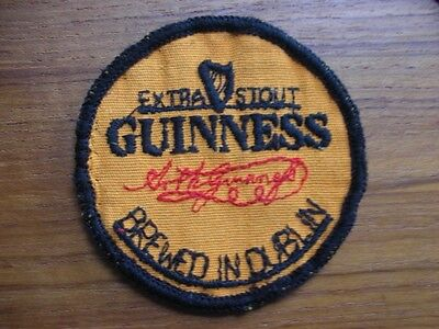 Old Guinness Brewed In Dublin Woven Sew On Irish Breweriana Badge Patch