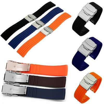 Unisex  Replacement Silicone Sport Strap Bracelet Wrist Watch Band Strap 18-24mm