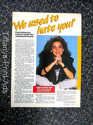 YTT * Lorena Novoa * 1 Pg  Magazine CLIPPINGS Photo 1980's * Young Talent Time *