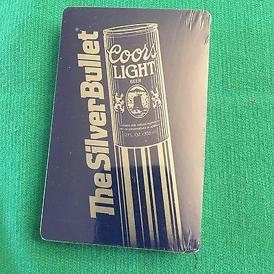 playing cards Coors Light Silver Bullet