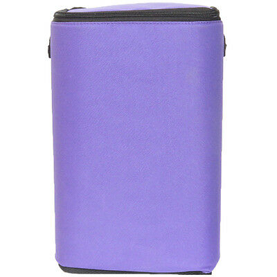 "Purple Brush Stop With Zippered Top-8""X12""X5"" 40130"
