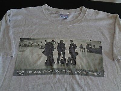 U2 Music Band ALL THAT YOU CAN'T LEAVE BEHIND T Shirt 2001 Large FREE SHIPPING