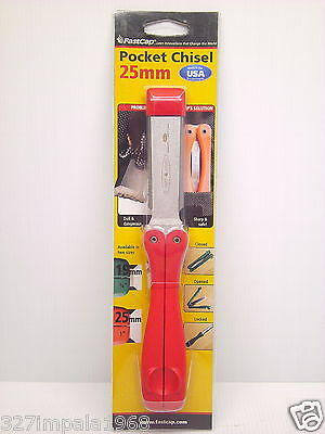 """FASTCAP 25mm ( 1"""" ) Folding Pocket Chisel For Woodworking Made In USA"""