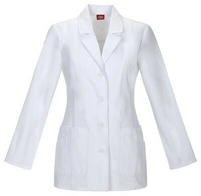 "Dickies 29"" Fluid Barrier Lab Coat 84405AB WHWZ White Free Shipping"