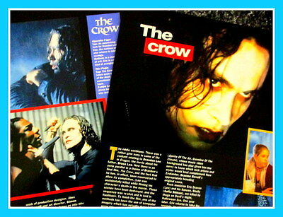 BRANDON LEE The Crow * Magazine  CLIPPINGS Cuttings Photo Feature 1990's