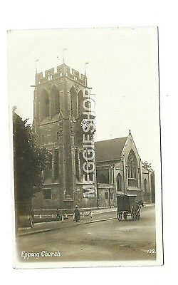Essex / London : Epping Church - Old Photo Postcard - Horse & Van