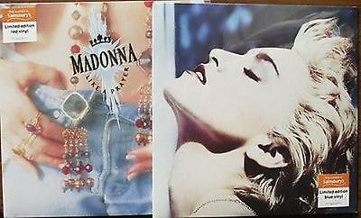 True Blue & Like A Prayer - Madonna Uk 2016 Red & Blue Vinyl Lp's Still Sealed