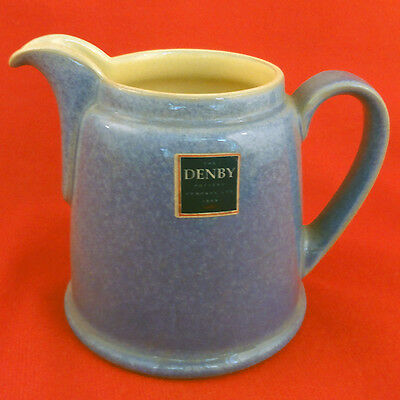 "JUICE - BERRY BLUE Denby CREAMER 4"" tall NEW NEVER USED Made in England"