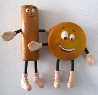 Owl's Nest Cheese Advertising Characters Cracker and Pretzel Promo Figures