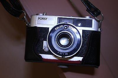 Vintage Camera Porst 135L With External Flash and Casing