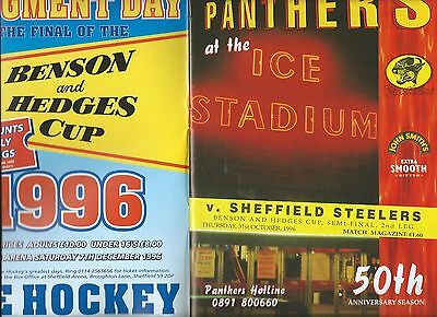 96/97 Nottingham Panthers v Sheffield Steelers B and h Semi  Oct 31st    Mint