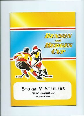 97/98 Manchester Storm v Sheffield Steelers B and H Aug 31st Mint