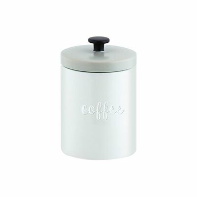 NEW Anna Gare Elsie Embossed Coffee Canister Grey