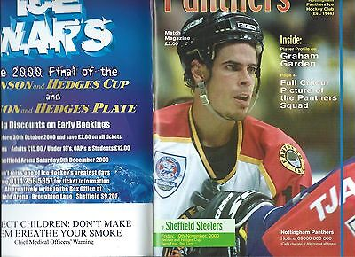 00/01 Nottingham Panthers v Sheffield Steelers B and h Semi  Nov 10th    Mint