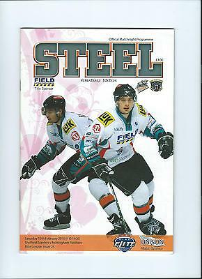09/10 Sheffield Steelers v Nottingham Panthers Feb 13th  Mint