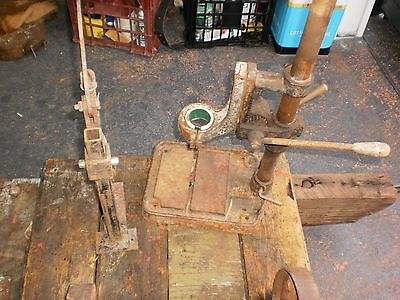 Vintage Old Tools  Hand Bench  Drill Press