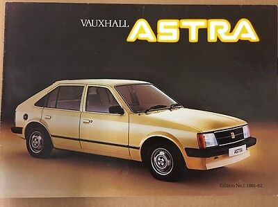 Car Brochure - 1982 Vauxhall Astra - UK