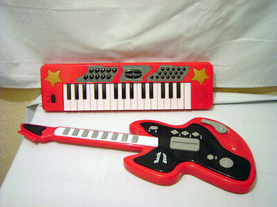 Chad Valley Rock Star Electronic Toy Guitar and Keyboard