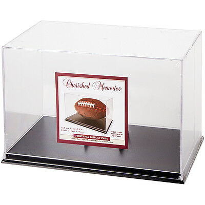 "Football Acrylic Display Case 17.25""X8""-Black Base 97423"