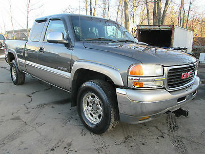 2001 GMC Sierra 2500 SLT 2500HD 2500HD 4x4 3/4 Ton Short Bed Extended Cab Runs Great Tow Package NO RESERVE !!