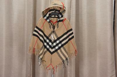 Burberry Cape Poncho Hooded House Check Made In Uk Girls Size M