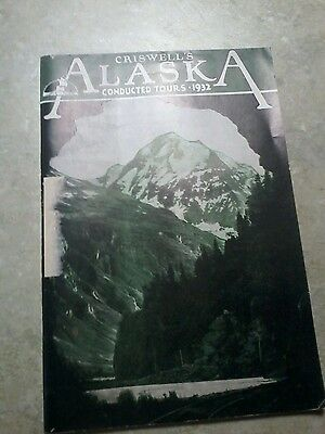 1932 Criswell's Alaska Conducted Steamship Tours Booklet-Perfect condition