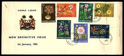 1963 January 1 Flowers Sierra Leone Definitive Issue First-Day Cover