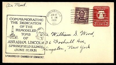 Abraham Lincoln Remodeled Tomb Dedication Springfield Il Jun 17 1931 Cover