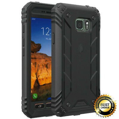 For Galaxy S7 Active Poetic Revolution Premium Rugged Protection Hybrid Case BLK