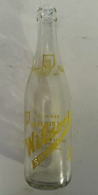 """Rare Canadian (Toronto) """"wilson's Tonic Water"""" 12 Oz Clear Bottle - Yellow Acl"""