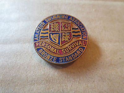 Amateur Swimming Association Pin Badge - Personal Survival - Bronze Standard