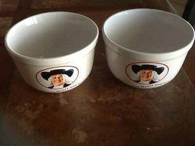 "Two 1999 Houston Harvest Quaker Oats Oatmeal Bowls ""Warms You Heart and Soul"""