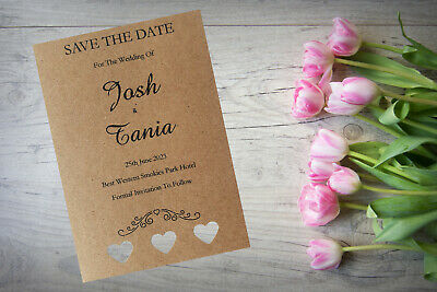 Personalised Save The Date Cards Night Evening Rustic  X 50 Magnetic SD294