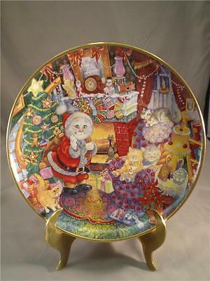 Bill Bell Cat Plate Holiday Christmas Cats Not A Creature Was Purring