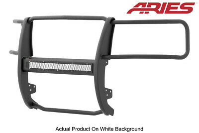 07-13 Silverado 1500 Black Textured Front Grille/Brush Guard Aries Pro Series