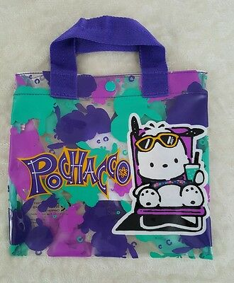 💜🐶Pochacco Dog Sanrio Clear Plastic Purse Bag 90's Colorful Bag🐶💜