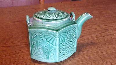 Ceramic Celadon Green Japanese Antique Tea pot