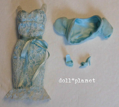 Model Muse Barbie Doll Clothes Birthstone Beauties Aquamarine Dress Bolero Shoes