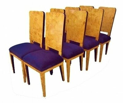 CLASSIC SET 8 Art Deco style French ELM chairs