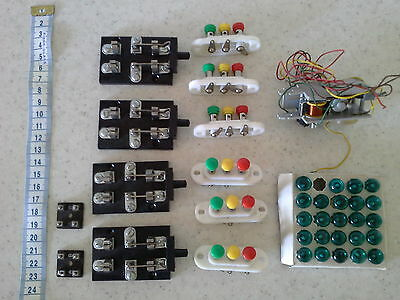 Vintage HO Scale Model Train Electrical Parts/Connections and Bulbs