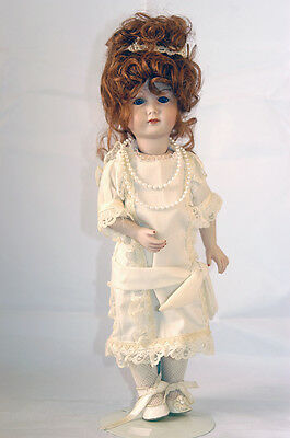"""""""red Headed Flapper,"""" Hand Made Doll, Circa 1990, Unique"""